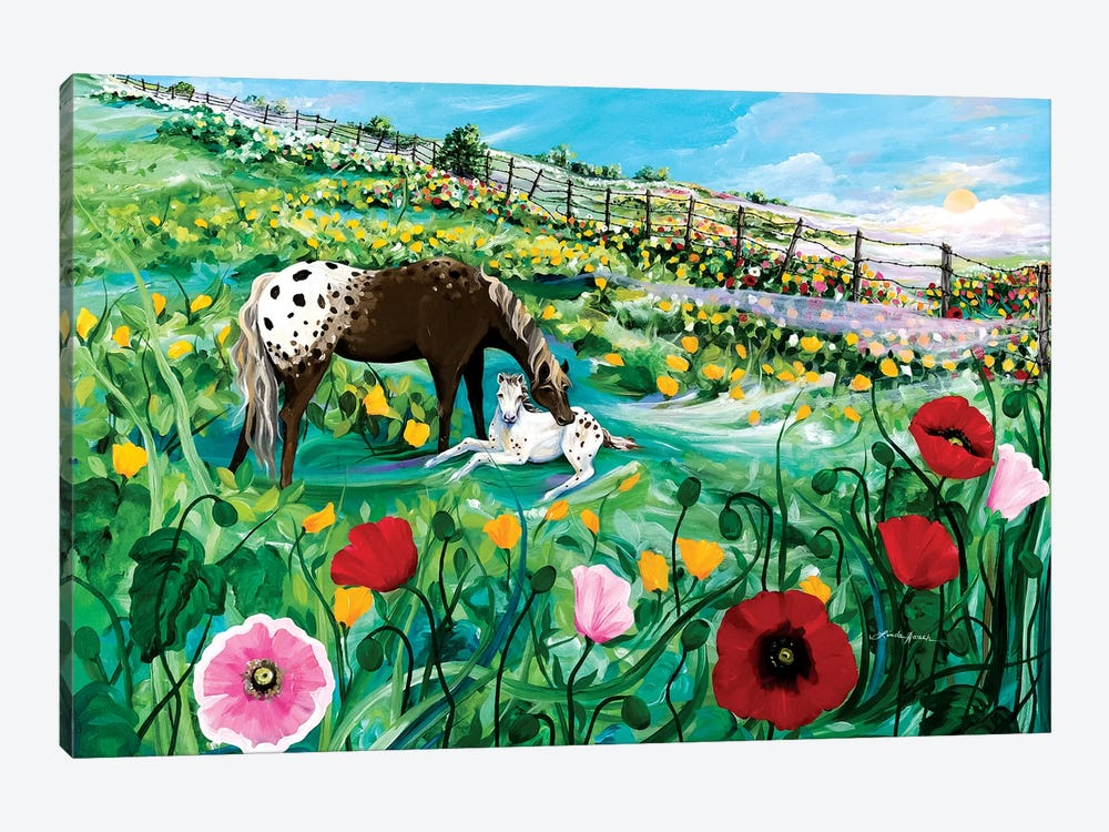 Buttercup Baby by Linda Rauch 1-piece Canvas Art