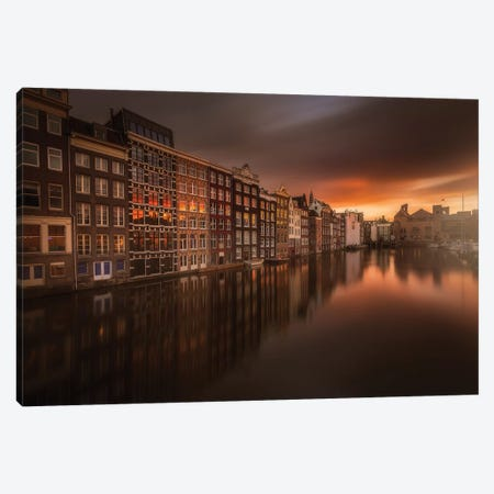 Amsterdam #1 Canvas Print #LRB2} by Luca Rebustini Canvas Print