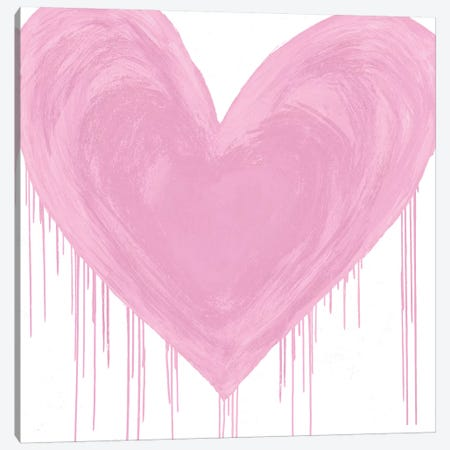Big Hearted Pink Canvas Print #LRD17} by Lindsay Rodgers Canvas Wall Art