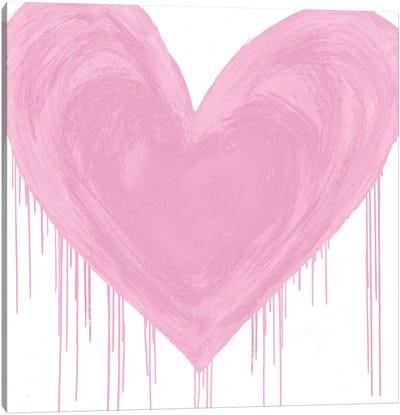 Big Hearted Pink Canvas Art Print
