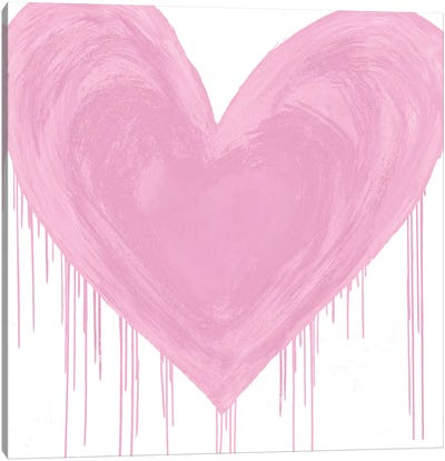 Big Hearted Pink Canvas Art Print