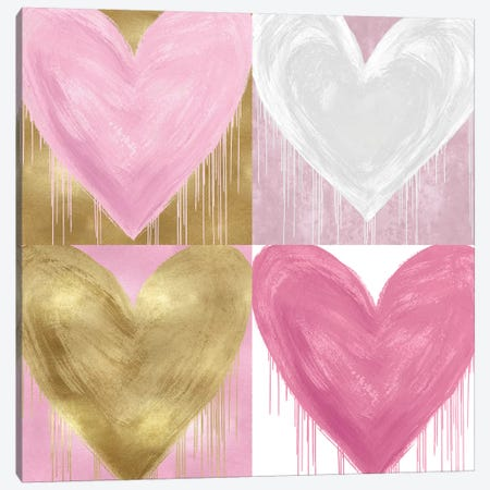 Big Hearted Quartet II Canvas Print #LRD21} by Lindsay Rodgers Canvas Wall Art