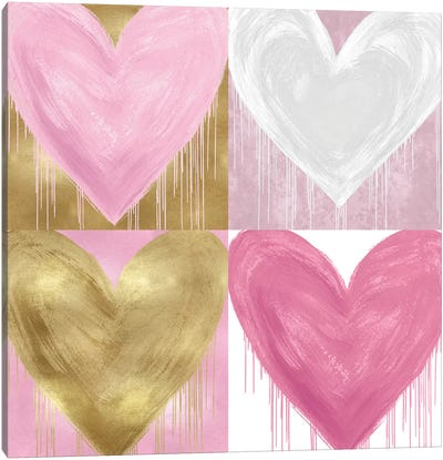 Big Hearted Quartet II Canvas Art Print