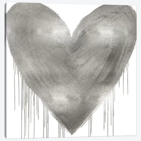 Big Hearted Silver Canvas Print #LRD24} by Lindsay Rodgers Canvas Art Print
