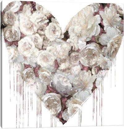 Big Hearted Flowers I Canvas Art Print