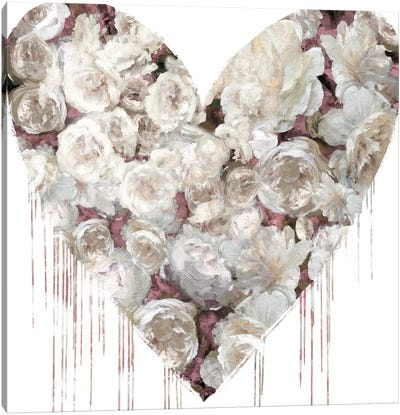 Big Hearted Flowers I Canvas Art Print