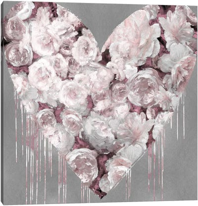 Big Hearted Flowers II Canvas Art Print