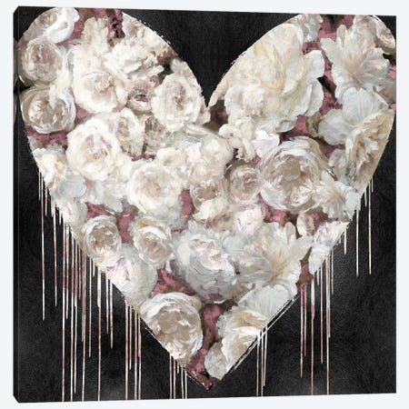 Big Hearted Flowers III Canvas Print #LRD7} by Lindsay Rodgers Canvas Artwork