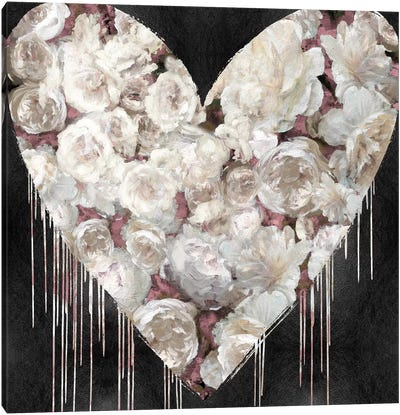 Big Hearted Flowers III Canvas Art Print