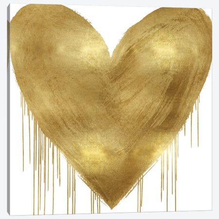 Big Hearted Gold Canvas Print #LRD8} by Lindsay Rodgers Canvas Print