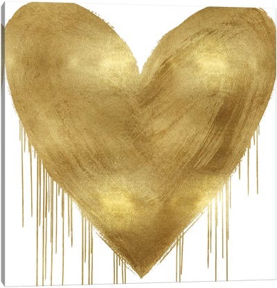 Big Hearted Gold Canvas Art Print