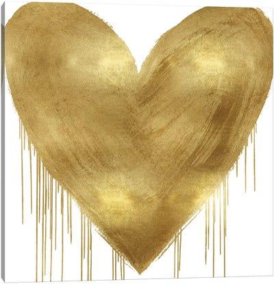 Big Hearted Gold Canvas Art Print