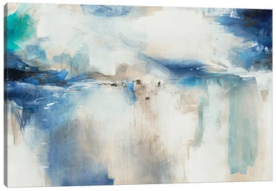 Indigo Impression Canvas Art Print