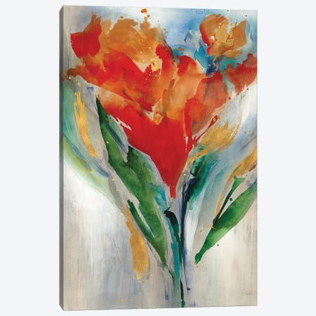 Wild Flower Bouquet Canvas Print #LRE8} by Leah Rei Canvas Wall Art