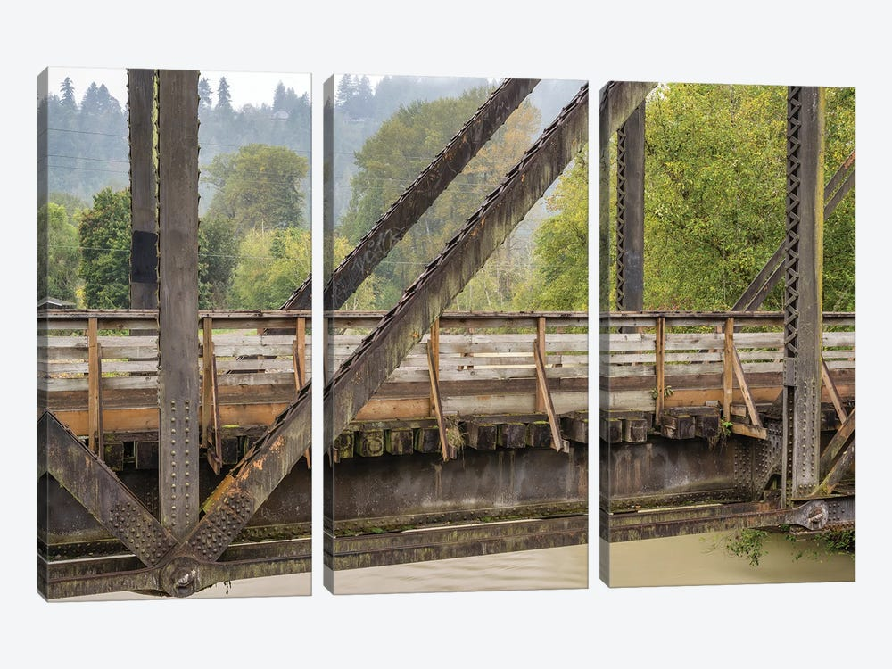 A Bridge With A View by Louis Ruth 3-piece Canvas Print