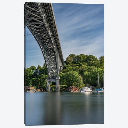 Bridge Over Water Canvas Print #LRH128} by Louis Ruth Canvas Wall Art