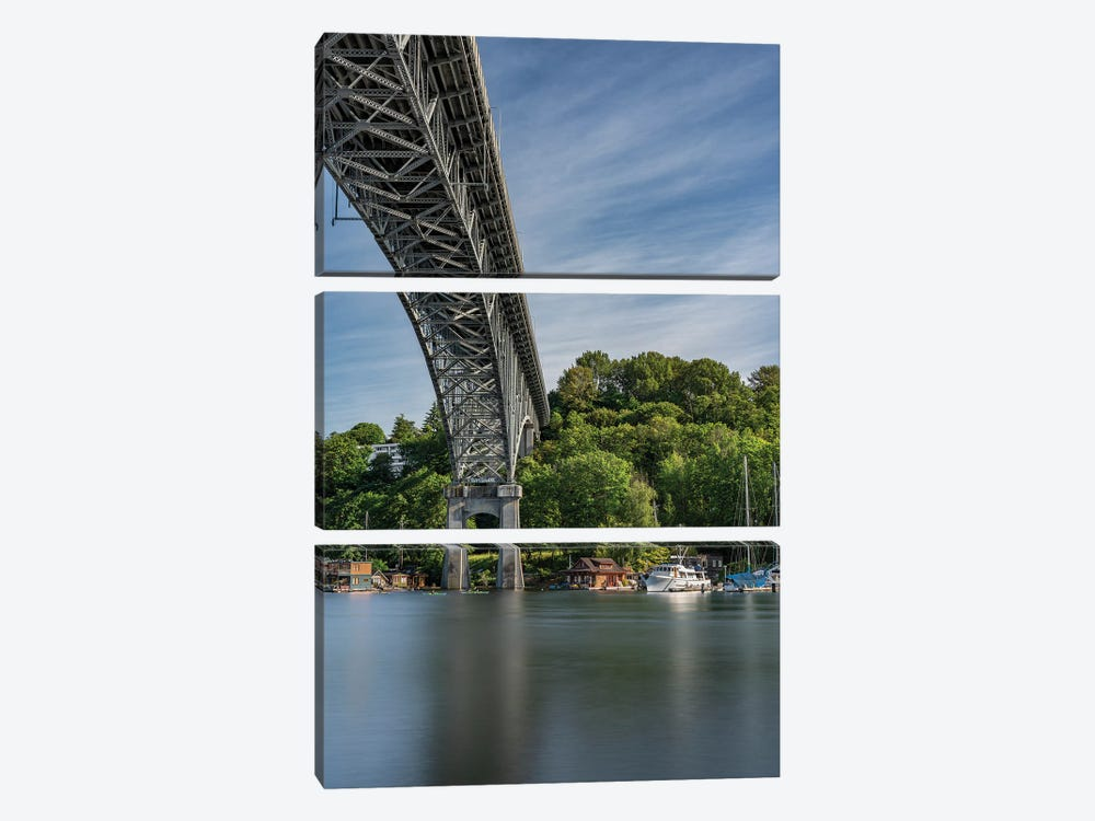 Bridge Over Water by Louis Ruth 3-piece Canvas Print