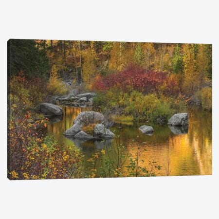 Autumn Colors On The Wenatchee River Canvas Print #LRH12} by Louis Ruth Art Print
