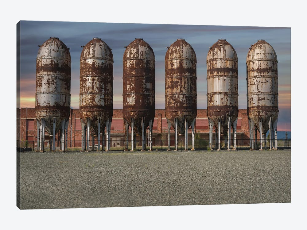 Silo Row Sunset by Louis Ruth 1-piece Canvas Artwork
