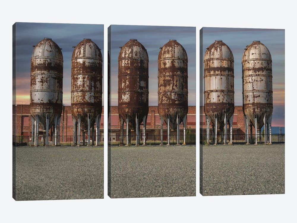 Silo Row Sunset by Louis Ruth 3-piece Canvas Wall Art
