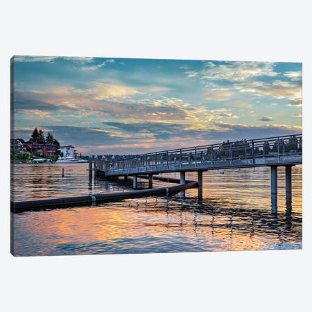 Sunset Shimmer Canvas Print #LRH169} by Louis Ruth Canvas Art