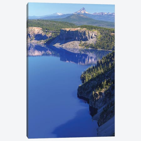 Crater Lake Layers Canvas Print #LRH21} by Louis Ruth Canvas Wall Art