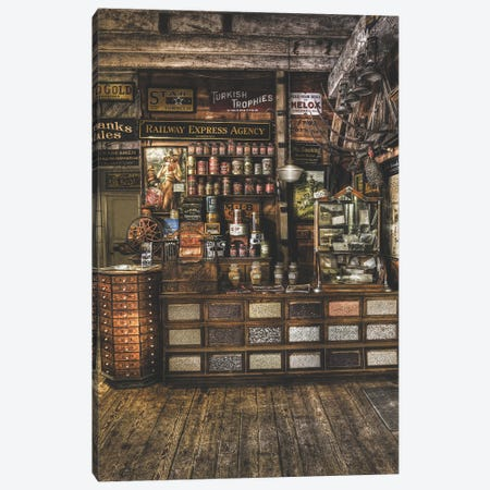 Old Store From The Past Canvas Print #LRH260} by Louis Ruth Canvas Print