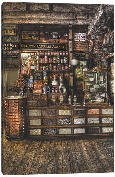 Old Store From The Past Canvas Art Print