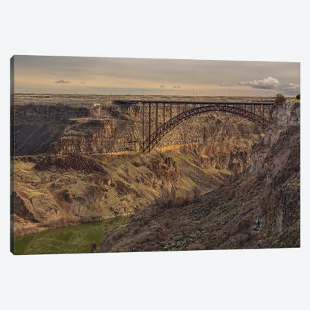 Perrine Bridge Scape Idaho Canvas Print #LRH262} by Louis Ruth Canvas Print