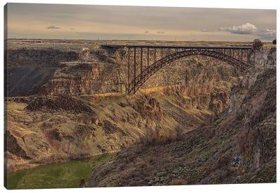 Perrine Bridge Scape Idaho Canvas Art Print