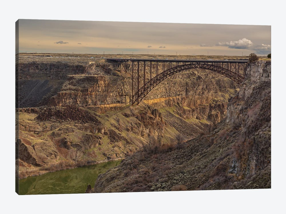 Perrine Bridge Scape Idaho by Louis Ruth 1-piece Canvas Art Print
