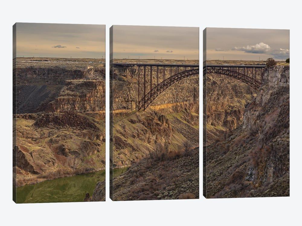 Perrine Bridge Scape Idaho by Louis Ruth 3-piece Canvas Art Print