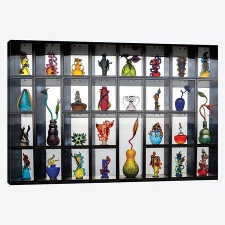 Glass Art Found On A Public Bridge Canvas Print #LRH268} by Louis Ruth Art Print