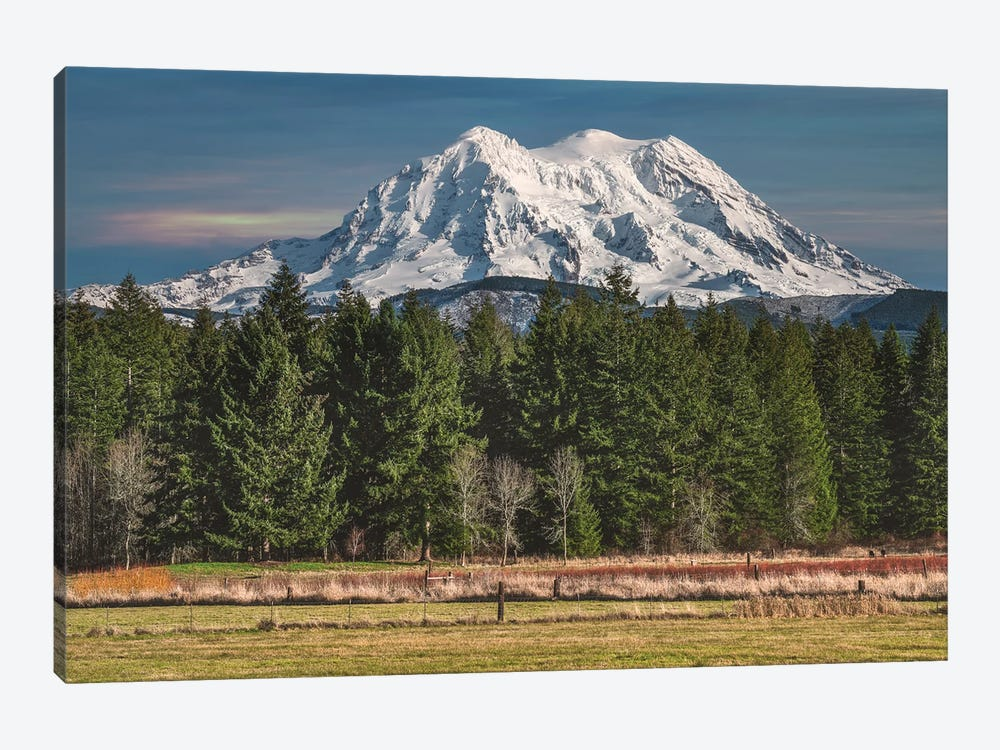 Mt Rainier Winter Of 2020 by Louis Ruth 1-piece Canvas Print