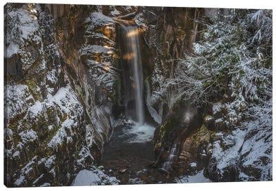 Hidden Falls At Mt Rainier Canvas Art Print