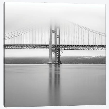 Narrows Bridge Monochrome Canvas Print #LRH299} by Louis Ruth Canvas Wall Art