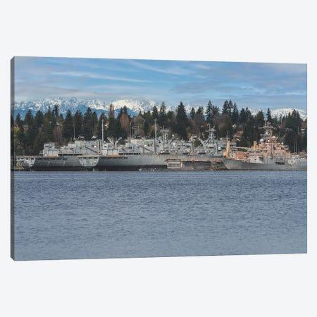 Ships A Shore Canvas Print #LRH334} by Louis Ruth Canvas Art