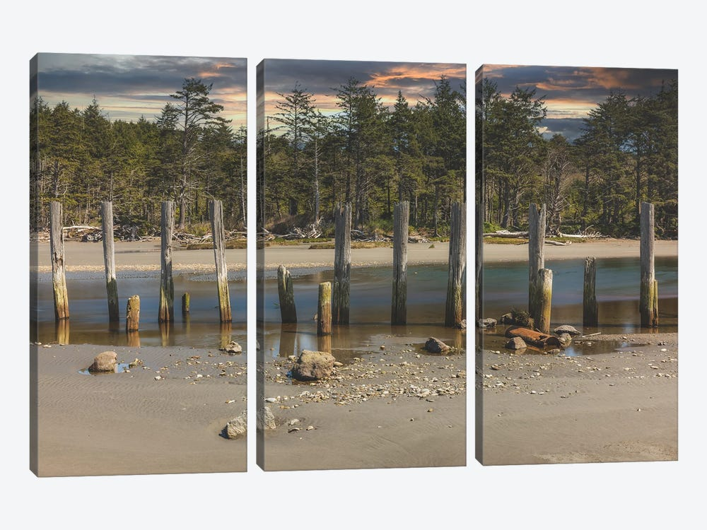 Close-Set Pilings by Louis Ruth 3-piece Canvas Wall Art