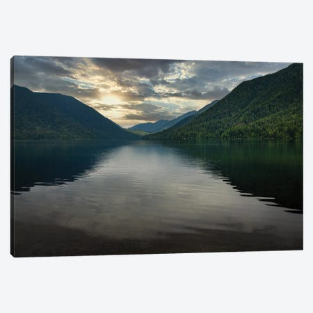 Morning View On Lake Crescent Canvas Print #LRH400} by Louis Ruth Art Print