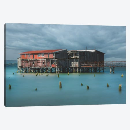 Old Cannery Canvas Print #LRH448} by Louis Ruth Art Print