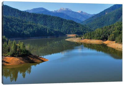 Applegate Dam Canvas Art Print