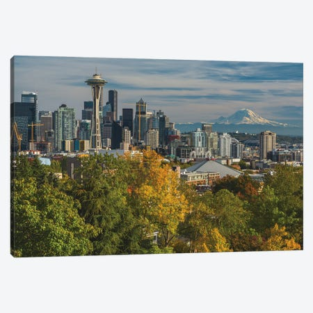 Seattle And Mount Rainer Canvas Print #LRH84} by Louis Ruth Art Print