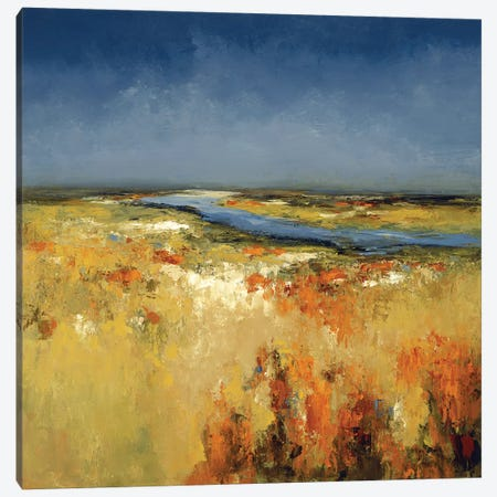 Sunlit Fields Canvas Print #LRI116} by Lisa Ridgers Art Print