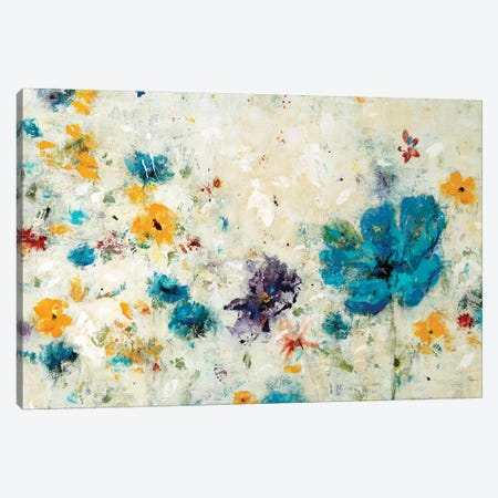 Textured Flora 3-Piece Canvas #LRI117} by Lisa Ridgers Canvas Art Print