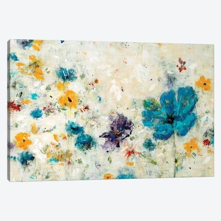 Textured Flora Canvas Print #LRI117} by Lisa Ridgers Canvas Art Print