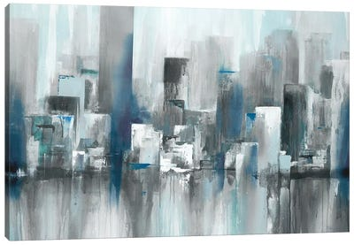Cityscape in Blues Canvas Art Print