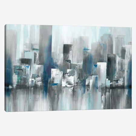 Cityscape in Blues Canvas Print #LRI135} by Lisa Ridgers Canvas Art Print