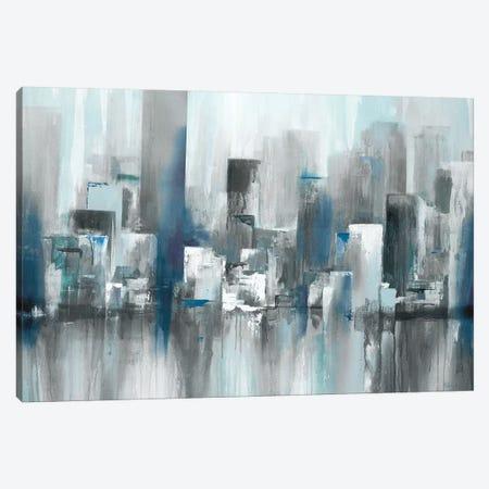 Cityscape in Blues Canvas Print #LRI135} by Lisa Ridgers Canvas Art Print