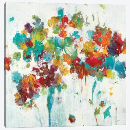 Colored Blooms Canvas Print #LRI136} by Lisa Ridgers Art Print