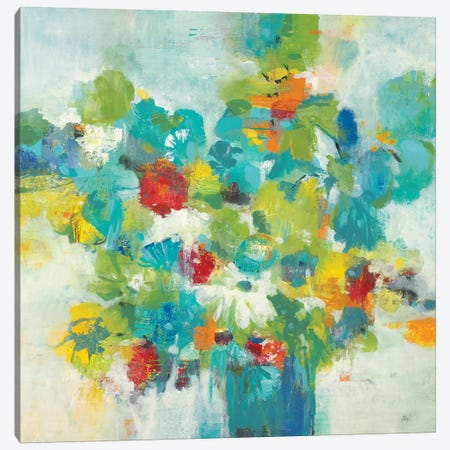 Flower Power 3-Piece Canvas #LRI139} by Lisa Ridgers Canvas Wall Art